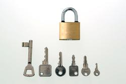 Schlüssel mit Schloss II