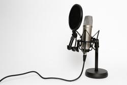 Großmembran-Mikrophon mit Pop-Schutz