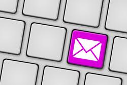 Tastatur Brief magenta