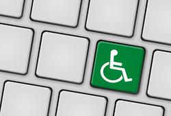 Tastatur Behinderung grün