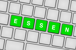 Tastatur essen grün