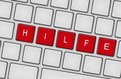 Tastatur Hilfe rot
