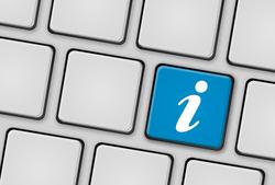 Tastatur Info i blau