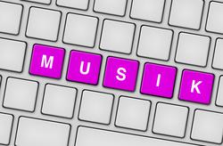 Tastatur Musik magenta