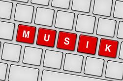 Tastatur Musik rot