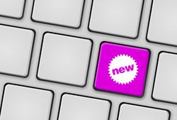 Tastatur new neu magenta