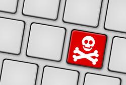 Tastatur Pirat Totenkopf rot