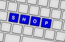 Tastatur Shop blau