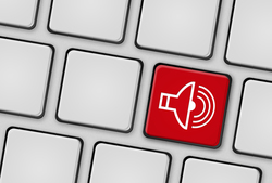 Tastatur Lautsprecher rot