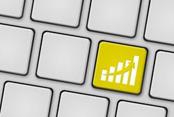 Tastatur Statistik gelb
