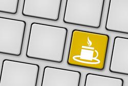Tastatur Tasse gelb