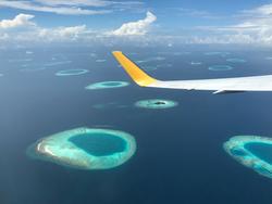 Malediven aus dem Flugzeug