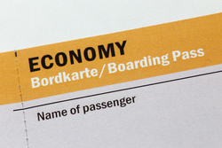 Economy Bordkarte
