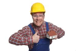 Bauarbeiter mit Daumen hoch