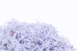 Papier geschreddert
