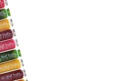 bunte Flaschen von true fruits